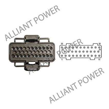 FICM Connector for Ford PowerStroke 2003-2007 6.0L F Series /& Excursion 2006-2010 4.5L LCF by Alliant Power Fuel Injection Control Module 2004-2010 6.0L E Series
