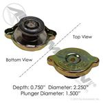 Picture of 572.2018, Surge Tank Cap - 10 LB, Freightliner 517223000, 05-17223-000