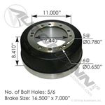 "Picture of 151.2983C, Brake Drum 2983C - 16.5"" x 7"""