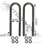 Picture of AUBK8161-134, U-Bolt Kit - Replacement for Mack, Great Dane, Hutch Trailer, Reyco, Volvo