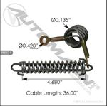 Picture of HLK2035, Hood Cable - Peterbilt 1304503040, 13-04503-040