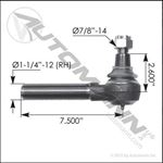 Picture of 462.ES2090L, Tie Rod End Left - IHC, Mack, Meritor, Eaton, Chevy/GMC, Autocar, Ridewell