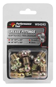 """Picture of W54243, Grease Fitting 1/8"""" - 90 Degree - 10 Pack"""