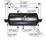 """Picture of 172.2001, Air Tank - 9.5"""" Diameter, 1488 Cubic Inch Volume"""