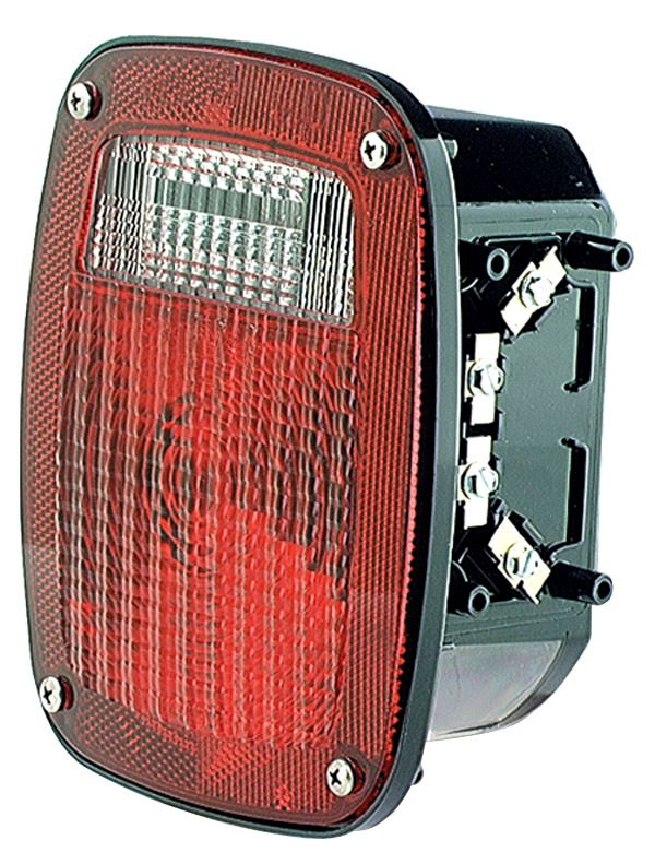 Grote 50992 Red Torsion Mount Two-Stud Mack Dodge Stop Tail Turn Light