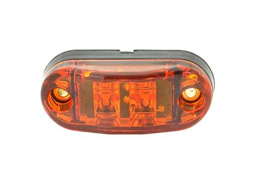 """Red 2.5/"""" Oval LED Clearance Marker Lights Grote 47012"""