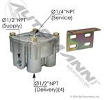 "Picture of 170.102626, R12V Type Relay Valve - 4 PSI, 1/2"" NPT"