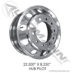 "Picture of 157.A225X825HP, Hub Pilot - Aluminum 22.5"" x 8.25"""