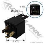 Picture of 178.2540, 5 Pin Relay - 12 Volt, 40 Amp