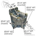 Picture of 170.KN28510, RG2 Type Relay Valve