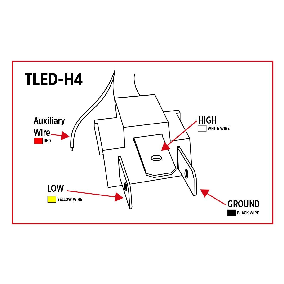 led headlights wiring diagram tled-h4, trux led projector headlight with white ...