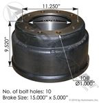 "Picture of 151.5503BA, Brake Drum - 15""x5"", 3754X / 61951B"