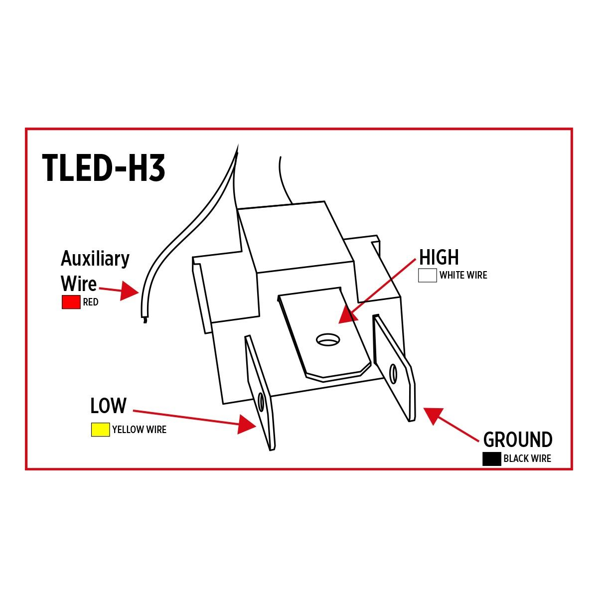 tled-h3  led projector headlight - 7 u0026quot