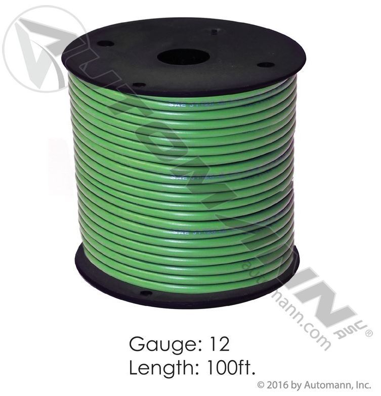 178.2112GN, Primary Wire - 12 GA, Green, 100 FT - Heavy Duty Truck ...
