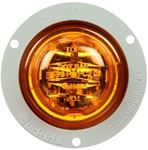 "Picture of 10279Y, LED Marker Light - 2.5"" Round, Yellow, Flange Mount"
