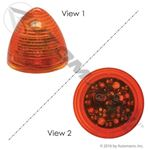 Picture of 571.LD31A9, Amber Beehive LED - 2""