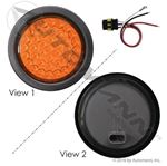 "Picture of 571.LD43A39K, LED Auxiliary Flasher Kit - 4"" Amber"
