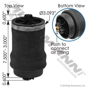 Picture of ABSZ70-7206, Cabin Air Spring - Freightliner 18-29919-000, 1829919000