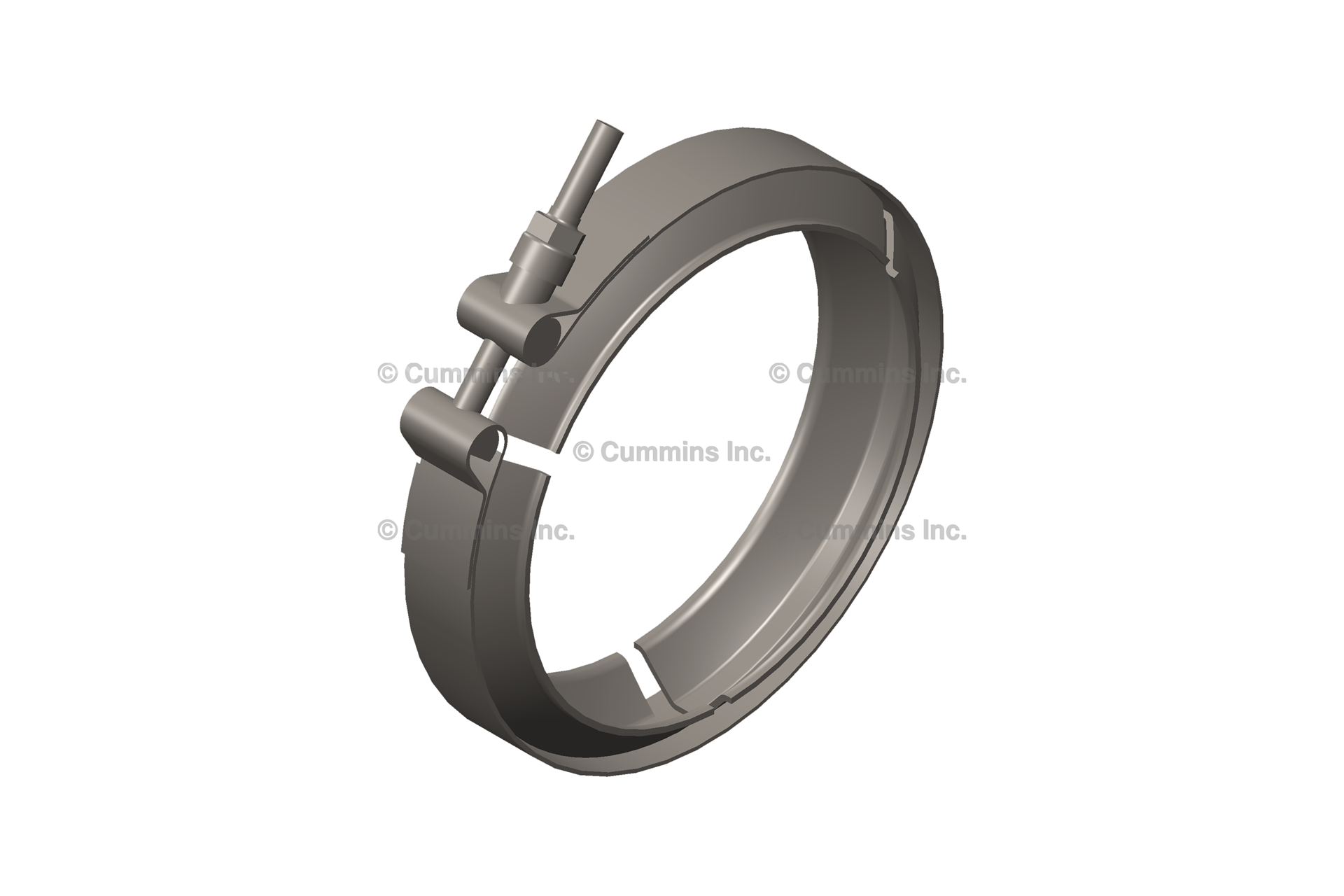 2871861, Cummins V Band Clamp - DPF Exhaust Clamp, 9 5