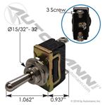 Picture of 577.3048, HD Toggle Switch - 3 Screw, SPDT, On/Off/On, 25 Amp