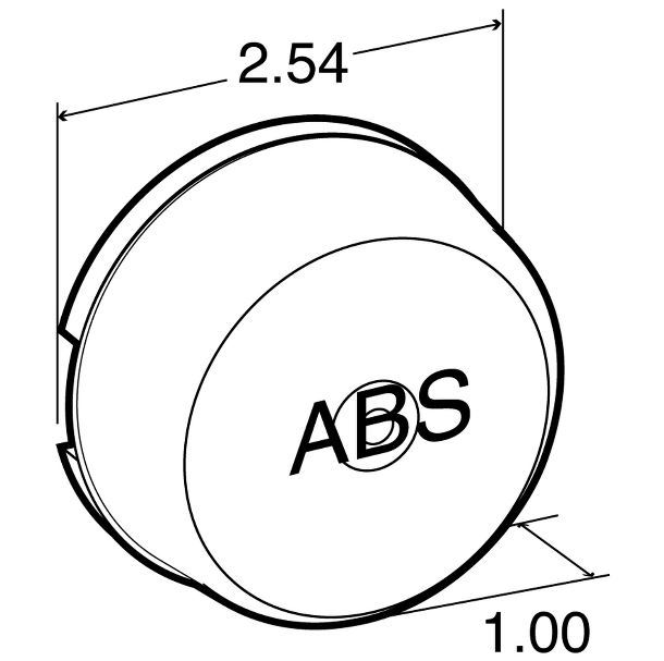 10212y 2 5 Round Abs Clearance Marker