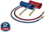"Picture of 17215-40H, Air Coil Set 15 Feet - 40"" Tractor Lead, 12"" Trailer Lead, Brass Handles"