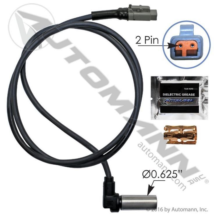 Automann 801548 ABS Sensor - Replaces Bendix 801548, 5001326 ... on cummins wire harness, dorman abs wire harness, caterpillar wire harness, freightliner wire harness,