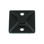 "Picture of 83-6032, Zip / Cable Tie 2 Way Mounting Base 50 Pack - Nylon, Single Screw, 1"" Black, Adhesive, 18-50 LBS Max"