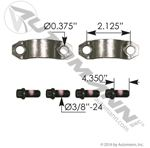 Picture of 752.37038X, U Joint Strap Kit - Ford 6E7Z4635AA, IHC 1658833C91, Spicer 37038X, Meritor KT124