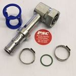 "Picture of GC-COTF90B-1210, 5/8"" Hose ID, 1""-14 Thread Female - Compressor O Ring Tube, 90 Block Elbow"