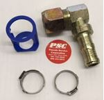"Picture of GC-FTM90B-1210, 5/8"" Hose ID x 7/8""-14 Male Thread - 90 Block Elbow, Flareless Tube"