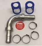 """Picture of GC-HM90-1212, 5/8"""" ID X 5/8"""" ID Hose Mender - 90 Degree Elbow, GC Cool Clip Fitting"""