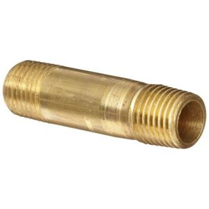 "Picture of 3328-6, 3/8"" Long Nipple - Brass Nipple 3/8""-18 x 2"" Long"