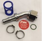 """Picture of GC-OTF45-1008, 1/2"""" Hose ID x 3/4""""-16 Thread - O Ring Tube, Female, Swivel, 45 Degree - GC Cool Clip Hydraulic Fitting"""