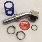 """Picture of GC-OTF45-1010, 1/2"""" Hose ID x 7/8""""1-14 Thread - O Ring Tube, Female, Swivel, 45 Degree - GC Cool Clip Hydraulic Fitting"""