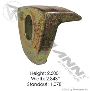 "Picture of 203.2013, Wheel Clamp - 2.5"" Height, 0.75"" Hole, 2-7/8"" Width, 1-1/8"" Offset"