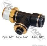 Picture of 177.117184D, PLC Swivel Male Run Tee - 1/2 Pipe x 1/4 Tube x 1/2 Tube