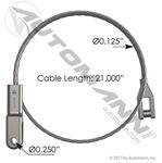 Picture of HLK2174, Hood Cable - International 3551734C1, 3551734C2