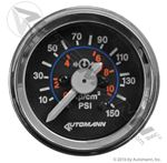 "Picture of 178.1104, Mechanical Air Pressure Gauge - Dual Needle, 0-150 PSI, Chrome Bezel, 2-1/16"" Diameter"