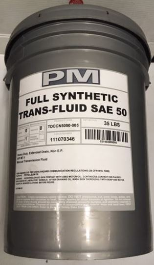 TF50 1035, SAE 50 Synthetic Trans Fluid - 5 Gallon Full Synthetic, Heavy  Duty Manual Transmission Fluid