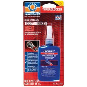 Picture of 27140, High Strength Threadlocker - Red, 36 ML Bottle, OEM Specified, Heavy Duty Applications