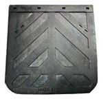"Picture of 2424CD, 24"" x 24"" Mud Flap - Black Rubber, Made in USA"