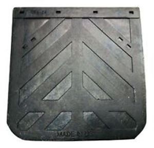 """Picture of 2424CD, 24"""" x 24"""" Mud Flap - Black Rubber, Made in USA"""