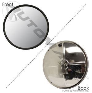 "Picture of 563.9004, Convex Mirror - Stainless Steel 8.5"", Center Mount with L Bracket"