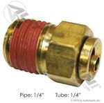 "Picture of 177.13B684B, 1/4"" Pipe x 1/4"" Tube DOT Push In (PLC) - Brass PLC Male Connector"