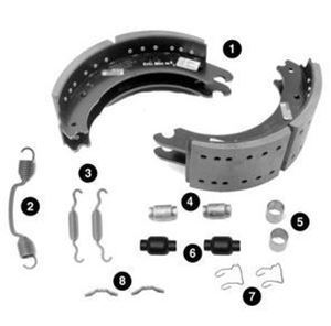 Picture of BK4702QPAR2 - Brake Shoe Kit FMSI 4702 - Remanufactured, Core Charge Associated with the purchase of this product