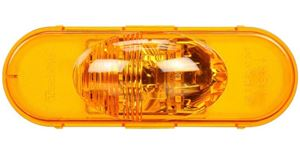 Picture of 60421Y, Oval Side Turn LED Signal - Yellow, 6 Diodes