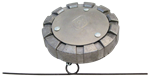"Picture of 91-8105, Fuel Cap - Aluminum, Female Thread, Non Locking, 3"" Vented - Replaces Freightliner A03-12927-4 and Kenworth K071-398"
