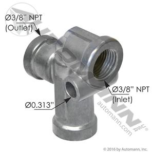 Picture of 170.140280, Pressure Protection Valve - Sealco Type, Internal Check Valve, 70 PSI Nominal Closing Pressure