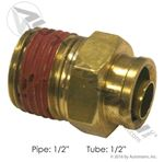 """Picture of 177.13B688D, Brass PLC Male Connector 1/2"""" - Male Pipe 1/2"""" x Male Tube 1/2"""""""